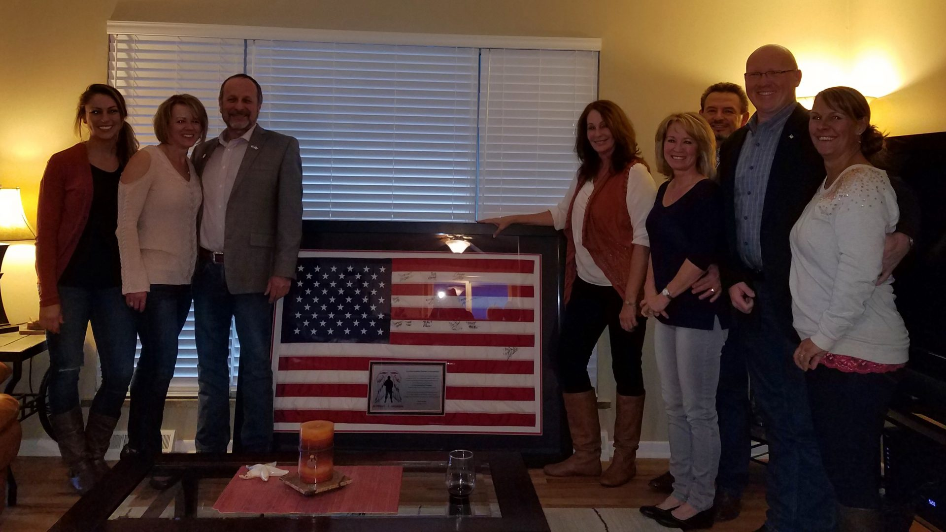 Support-A-Soldier Flag Presentation